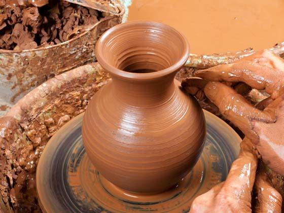 Lavorazione dell'argilla a Guardiaregia